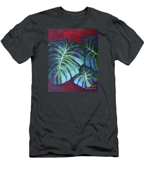 Split Leaf Philodendron Men's T-Shirt (Slim Fit) by Phyllis Howard