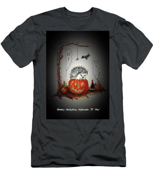 Spooky Hedgehog Halloween Men's T-Shirt (Athletic Fit)