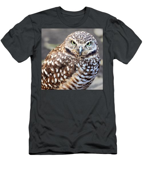 Spots - Burrowing Owl Men's T-Shirt (Athletic Fit)