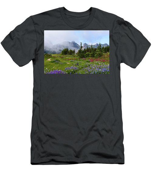 Spray Park In Mount Rainier Men's T-Shirt (Athletic Fit)