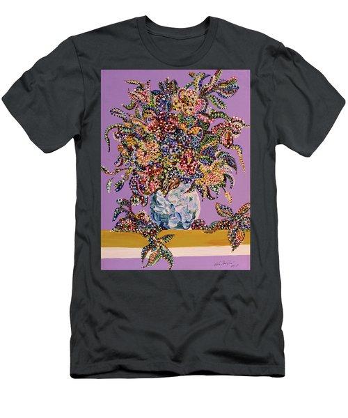 Spring Bouquet  Men's T-Shirt (Slim Fit) by Erika Pochybova
