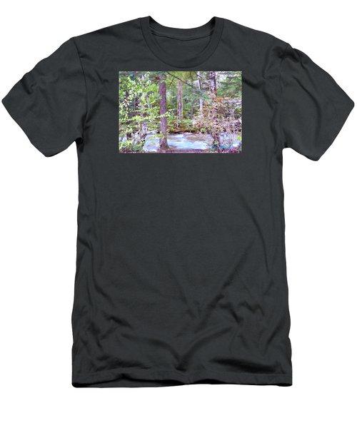 Men's T-Shirt (Slim Fit) featuring the digital art Spring Brook by John Selmer Sr