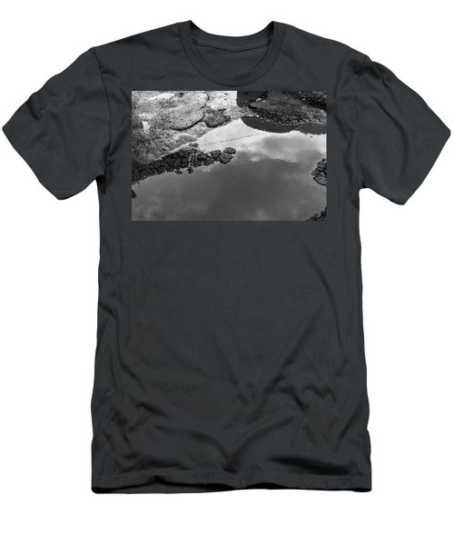 Spring Clouds Puddle Reflection Men's T-Shirt (Athletic Fit)