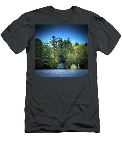 Spring Day At Old Forge Pond Men's T-Shirt (Slim Fit) by David Patterson
