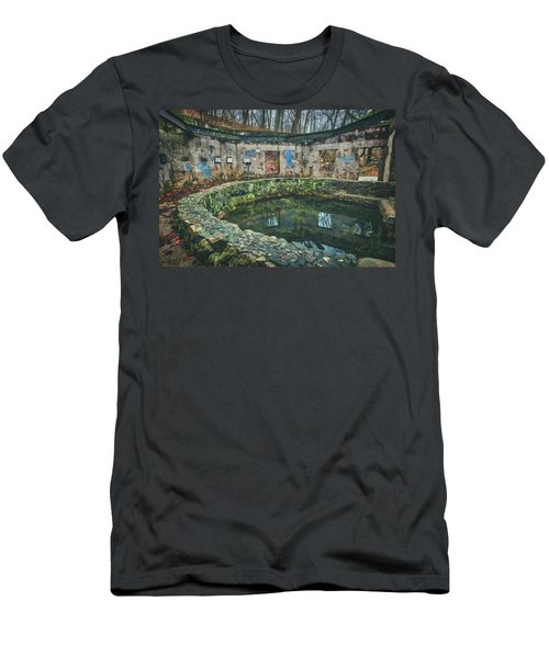 Men's T-Shirt (Slim Fit) featuring the photograph Spring House 2 - Paradise Springs - Kettle Moraine State Forest by Jennifer Rondinelli Reilly - Fine Art Photography