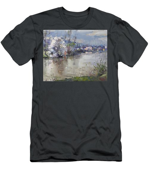Spring In Hyde Park Men's T-Shirt (Slim Fit) by Ylli Haruni