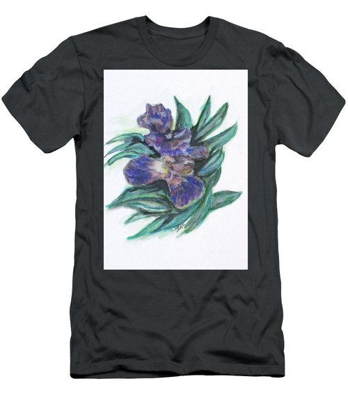 Spring Iris Bloom Men's T-Shirt (Slim Fit)