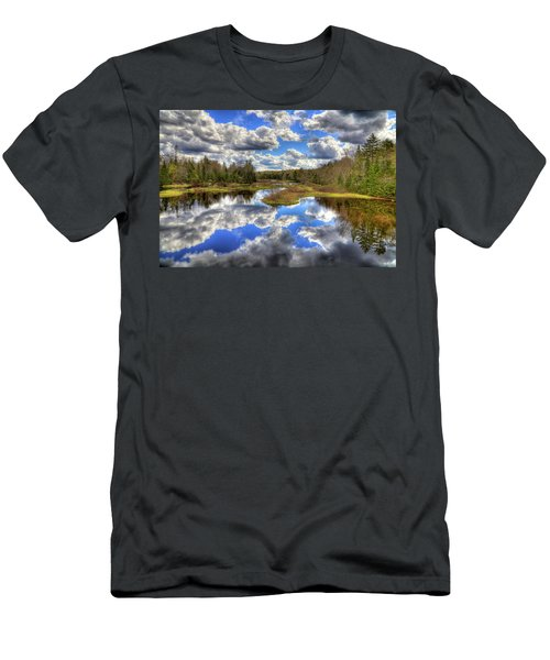 Spring Morning At The Green Bridge Men's T-Shirt (Slim Fit) by David Patterson