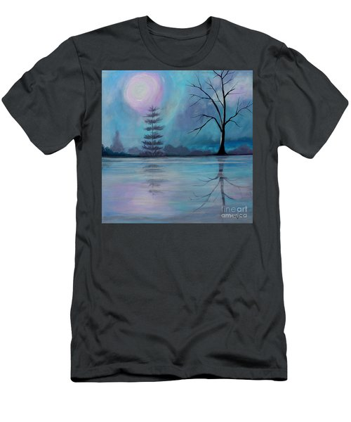 Men's T-Shirt (Slim Fit) featuring the painting Spring Morning by Stacey Zimmerman