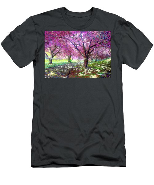 Spring Rhapsody, Happiness And Cherry Blossom Trees Men's T-Shirt (Athletic Fit)