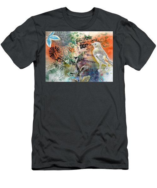 Men's T-Shirt (Athletic Fit) featuring the mixed media Spring Song by Rose Legge