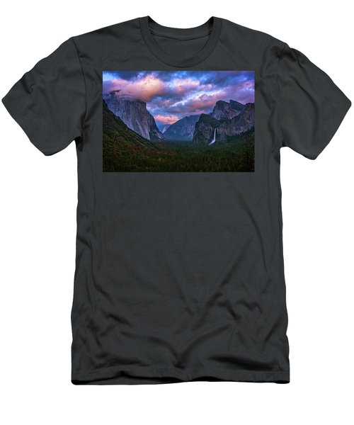 Spring Sunset At Yosemite's Tunnel View Men's T-Shirt (Athletic Fit)