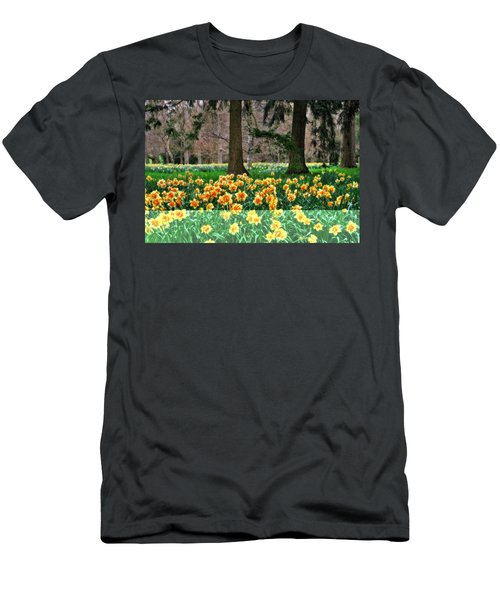 Spring Woodland Daffodils Men's T-Shirt (Athletic Fit)