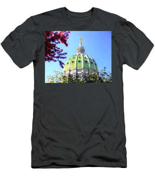 Men's T-Shirt (Slim Fit) featuring the photograph Spring's Arrival At The Pennsylvania Capitol by Shelley Neff