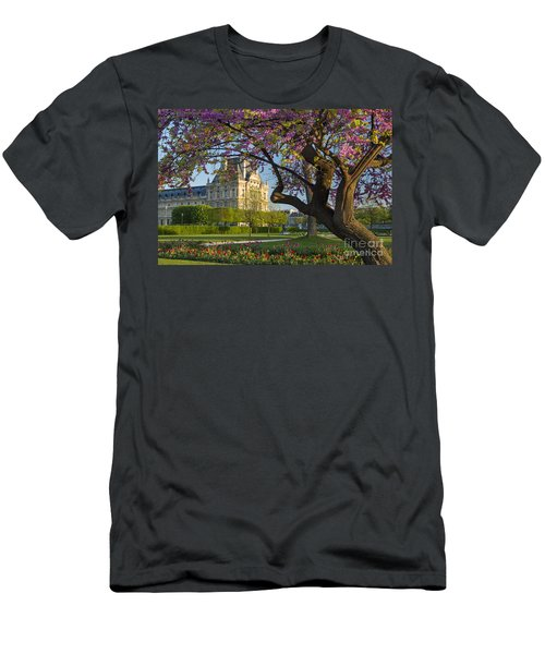 Men's T-Shirt (Athletic Fit) featuring the photograph Springtime In Paris by Brian Jannsen