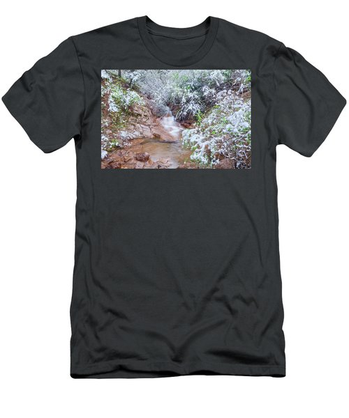 Springtime In The Colorado Rockies Implies Heavy, Slushy Snow, And Lots Of It. Men's T-Shirt (Athletic Fit)