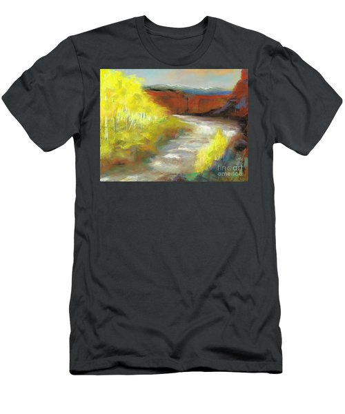 Springtime In The Rockies Men's T-Shirt (Slim Fit) by Frances Marino