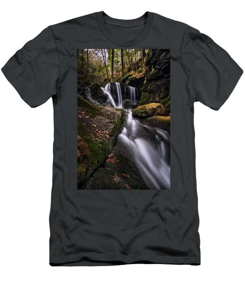 Sprucebrook Falls In Beacon Falls, Ct Men's T-Shirt (Athletic Fit)