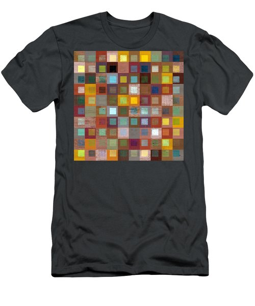 Men's T-Shirt (Slim Fit) featuring the digital art Squares In Squares Four by Michelle Calkins