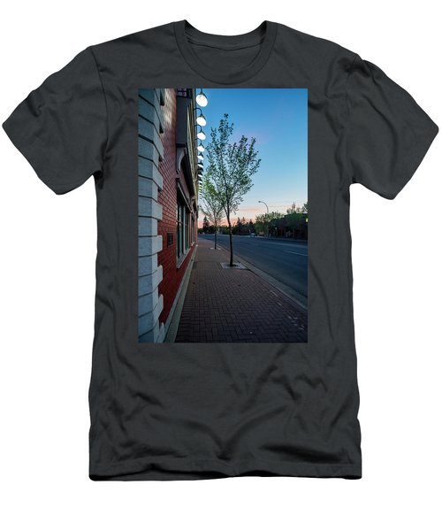 Men's T-Shirt (Slim Fit) featuring the photograph St. Anne Street At Dusk by Darcy Michaelchuk