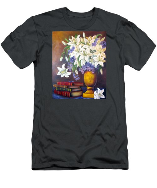 St. Anthony's Lilies Men's T-Shirt (Slim Fit) by Katia Aho