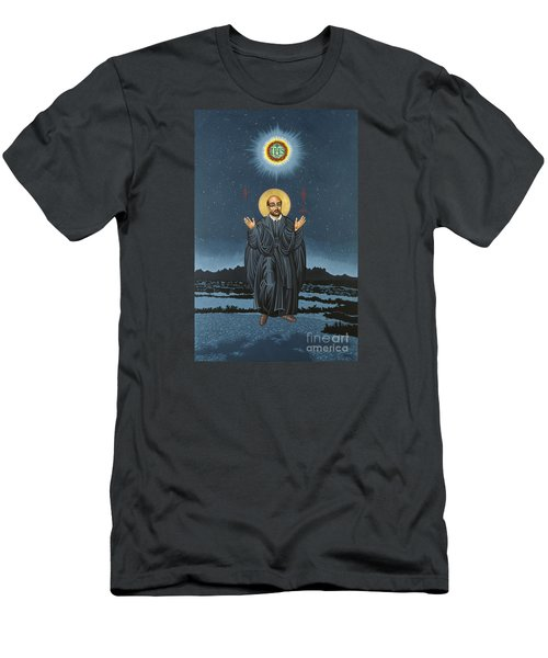 St. Ignatius In Prayer Beneath The Stars 137 Men's T-Shirt (Slim Fit) by William Hart McNichols