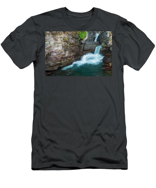 Men's T-Shirt (Athletic Fit) featuring the photograph St. Mary Falls by Gary Lengyel
