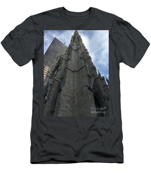 St. Patricks Cathedral Perspective Men's T-Shirt (Athletic Fit)