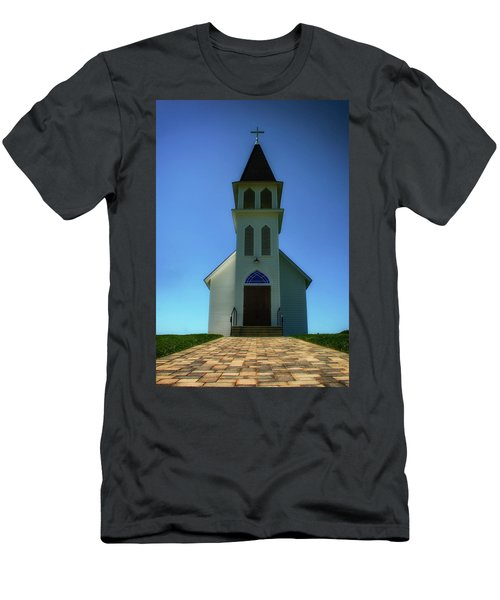 Men's T-Shirt (Slim Fit) featuring the photograph St. Peter's Church 2 by Joseph Hollingsworth