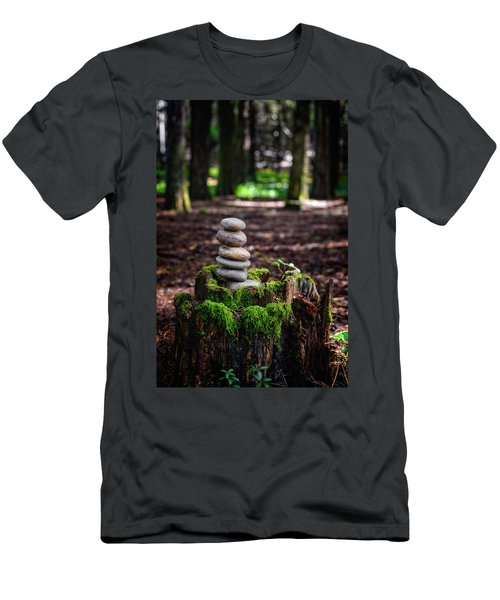 Men's T-Shirt (Slim Fit) featuring the photograph Stacked Stones And Fairy Tales IIi by Marco Oliveira