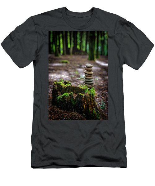 Men's T-Shirt (Slim Fit) featuring the photograph Stacked Stones And Fairy Tales by Marco Oliveira