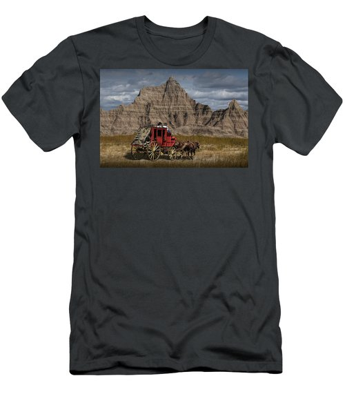 Stage Coach In The Badlands Men's T-Shirt (Athletic Fit)