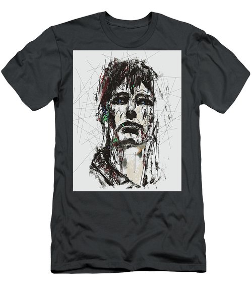 Staggered Abstract Portrait Men's T-Shirt (Athletic Fit)