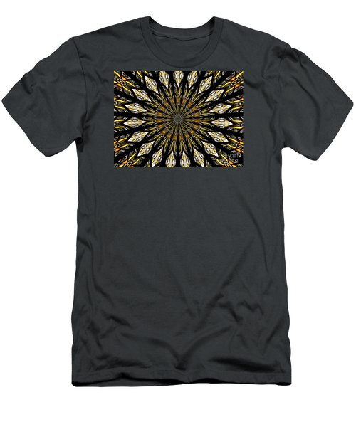 Men's T-Shirt (Slim Fit) featuring the photograph Stained Glass Kaleidoscope 5 by Rose Santuci-Sofranko