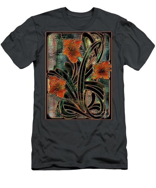 Stained Glass Parabolas Men's T-Shirt (Athletic Fit)