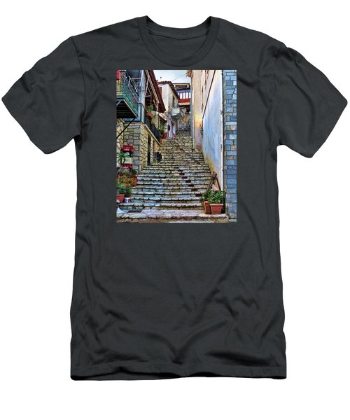Stairs On Greek Island Men's T-Shirt (Athletic Fit)