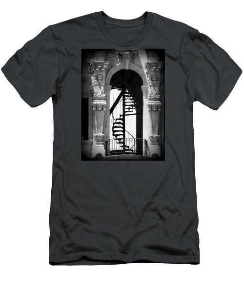 Stairway To Heaven Bw Men's T-Shirt (Athletic Fit)