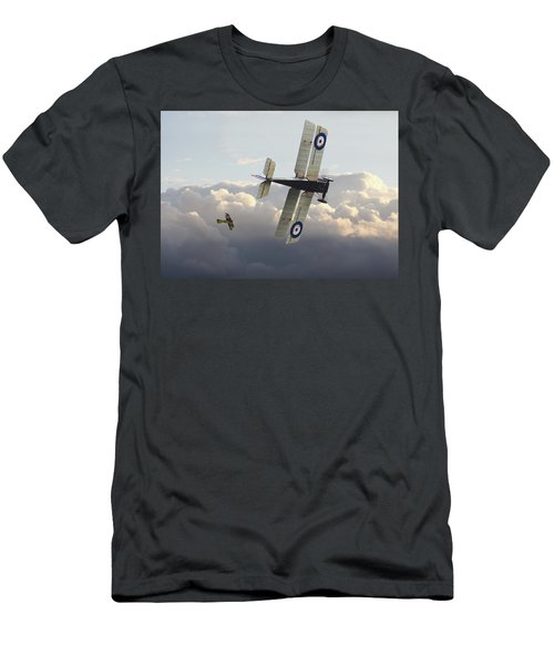 Men's T-Shirt (Slim Fit) featuring the digital art Stalked - Se5 And Albatros Dlll by Pat Speirs