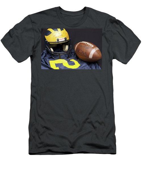 Stan Edwards's Autographed Wolverine Helmet Men's T-Shirt (Athletic Fit)