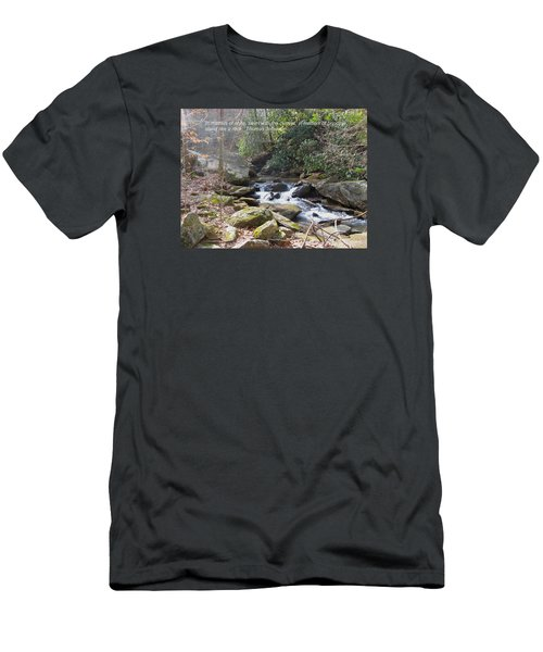 Stand Like A Rock Men's T-Shirt (Slim Fit) by Deborah Dendler