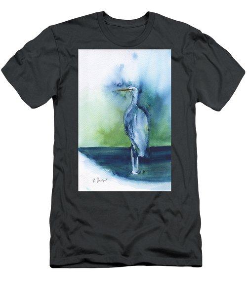 Standing Crane Men's T-Shirt (Athletic Fit)
