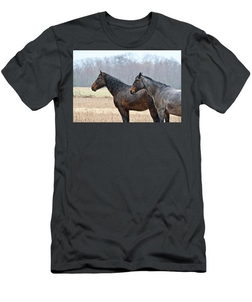 Men's T-Shirt (Slim Fit) featuring the photograph Standing In The Rain 1281 by Michael Peychich
