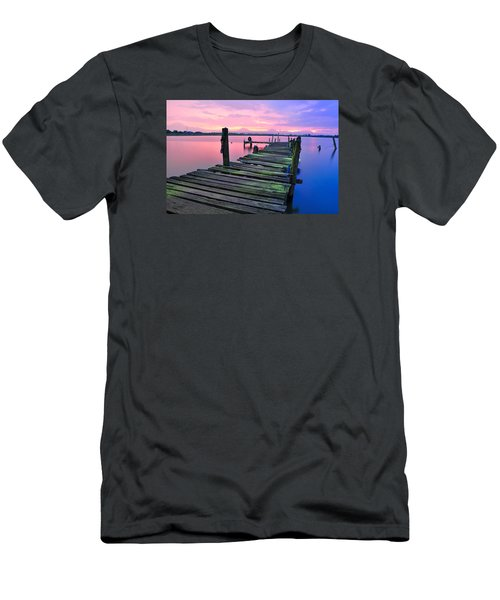 Standing On A Wooden Bridge Men's T-Shirt (Athletic Fit)