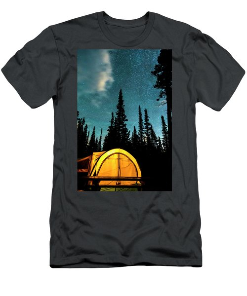 Men's T-Shirt (Slim Fit) featuring the photograph Star Camping by James BO Insogna