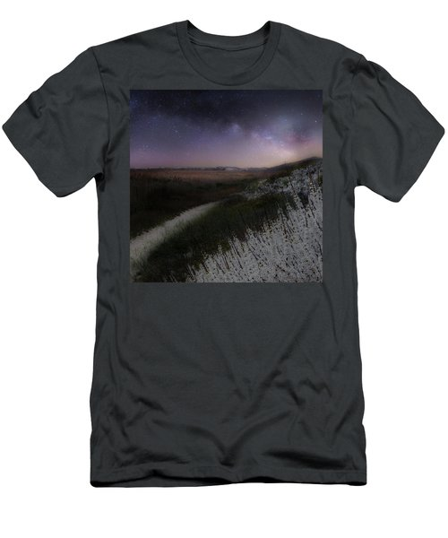Men's T-Shirt (Slim Fit) featuring the photograph Star Flowers Square by Bill Wakeley