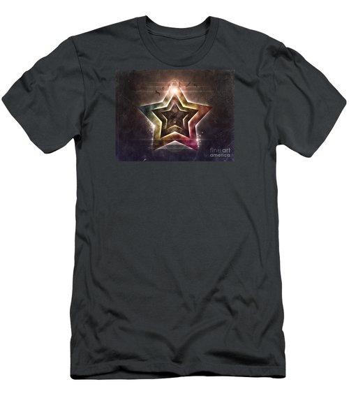 Men's T-Shirt (Slim Fit) featuring the digital art Star Lights by Phil Perkins