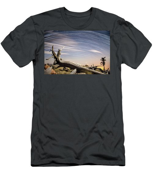 Star Trails By Fort Grant Men's T-Shirt (Athletic Fit)