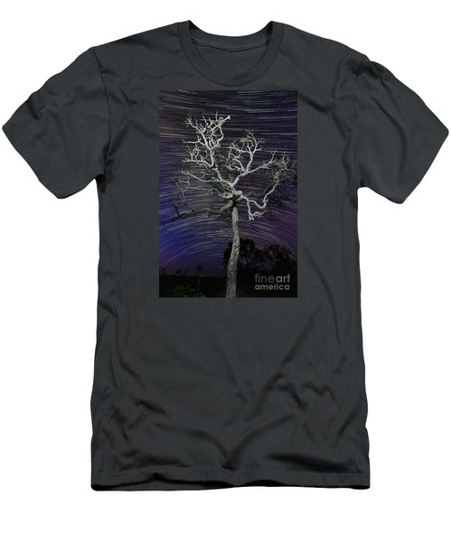 Men's T-Shirt (Slim Fit) featuring the photograph Star Trails In The Cerrado by Gabor Pozsgai