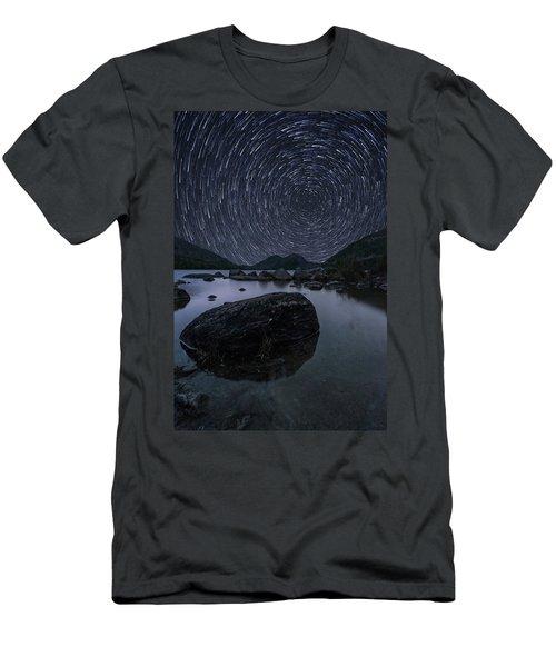 Star Trails Over Jordan Pond Men's T-Shirt (Athletic Fit)