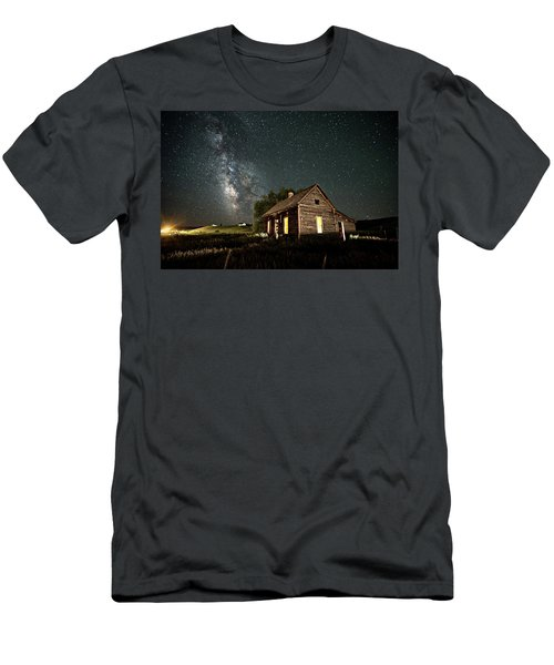 Men's T-Shirt (Athletic Fit) featuring the photograph Star Valley Cabin by Wesley Aston